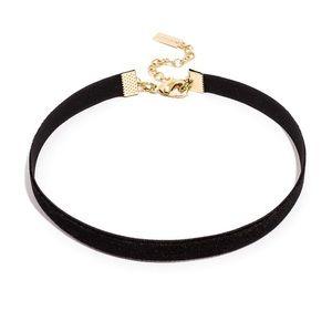 Baublebar Lydia Black Velvet Choker Necklace